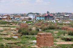 Antananarivo, Madagascar 25TH NOVEMBER 2016: Mensenactiviteit Stock Foto