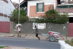 Antananarivo, Madagaskar 24. NOVEMBER 2016: Leutetätigkeit herein Lizenzfreies Stockfoto