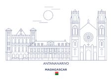 Antananarivo miasta linia horyzontu, Madagascar Zdjęcie Royalty Free