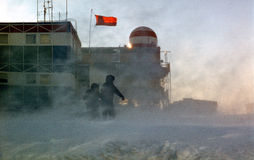 Antarctic blizzard Stock Images