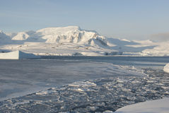 Antarctic coast winter day. Antarctic coast sunny winter day Stock Photography