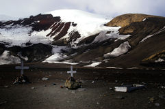 Antarctic crosses - Deception Island Royalty Free Stock Image