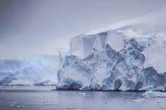 Antarctic Distant Icebergs Stock Images