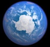 Antarctic do espaço Ilustração do Vetor