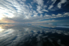 Antarctic dream landscape. With cloud sreflecting in the water Stock Image