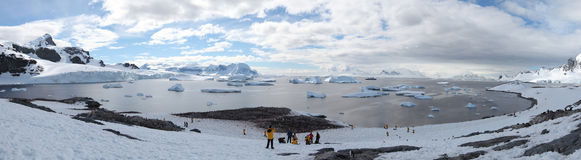 Antarctic expedition staff Royalty Free Stock Photo