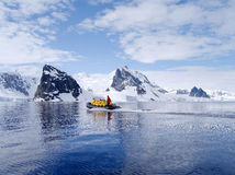 Antarctic expedition staff Royalty Free Stock Image