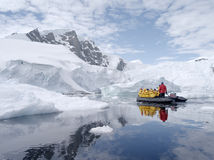 Antarctic expedition staff Stock Images