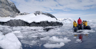 Antarctic expedition staff Stock Photography