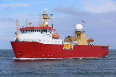 Antarctic Expeditionary Vessel. High tech polar antarctic and arctic expeditionary vessel Royalty Free Stock Images