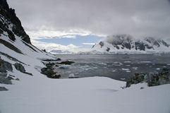 Antarctic glacial landscape Stock Photo