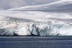 Antarctic glacier on the seaside Stock Image