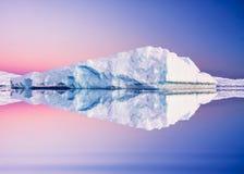 Antarctic Glacier in snow Stock Image