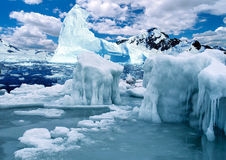 Antarctic ice-barrier Royalty Free Stock Photography