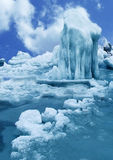 Antarctic ice-barrier Royalty Free Stock Image