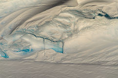 Antarctic Ice Cornice. Snow Cornice on top of Antarctic Crevasse Royalty Free Stock Photo