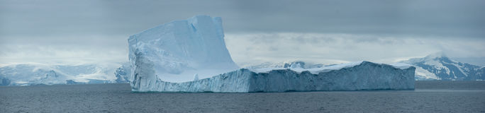 Antarctic ice island. In ocean Royalty Free Stock Image