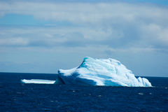 Antarctic ice island. With penguins  in atlantic ocean Stock Photography