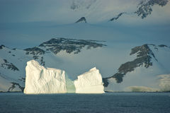 Antarctic ice island royalty free stock photography