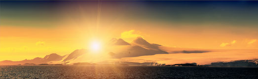 Antarctic ice island. Orkney Islands. Royalty Free Stock Images