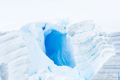 Antarctic Ice, Snow and blue light Royalty Free Stock Photo