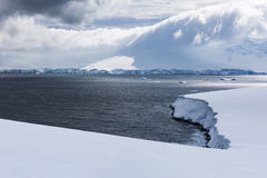 Antarctic Ice, Snow and clouds Stock Images