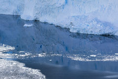 Antarctic Ice, Snow and a reflection Stock Images