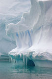 Antarctic iceberg. Iceberg at Pleneau in Antarctica stock image
