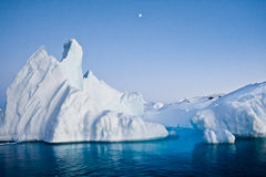 Antarctic iceberg. In the snow stock images