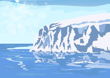 Antarctic iceberg in the snow royalty free illustration