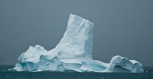 Antarctic iceberg tower Royalty Free Stock Photography