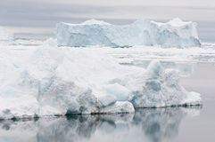 Antarctic landscape. Icebergs in the calm waters of the Weddell Sea, Antarctica Stock Photos