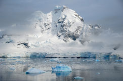 Antarctic landscape with calm sea Royalty Free Stock Photo