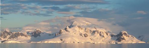 Antarctic Landscape panoramic Royalty Free Stock Images