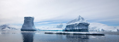 Antarctic Landscape. With Reflections in the water Stock Images