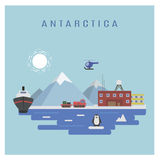 Antarctic landskap Arkivfoton