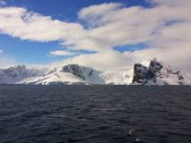 Antarctic landskap Arkivfoto