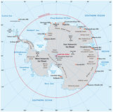 Antarctic map Royalty Free Stock Image
