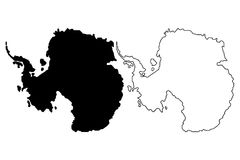 Antarctic map vector illustration,. Antarctic map Stock Photography