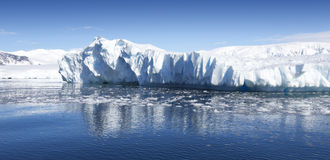 Antarctic. Nature and landscapes of Antarctic.Travel on the scientific vessel among ices. Studying of a phenomenon of global warming. Ices and icebergs of royalty free stock photography