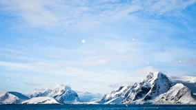 Antarctic Nature: snow-capped mountains stock video