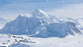 Antarctic Nature: snow-capped mountains in winter stock video