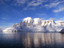 Antarctic peninsula. Journey to the Antarctic Peninsula via the La Maire channel stock images