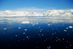 Antarctic peninsula and ice floes Stock Photo