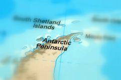 Antarctic Peninsula - Russia. Antarctic Peninsula is the northernmost part of the mainland of Antarctica selective focus Royalty Free Stock Photo