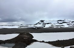 Antarctic Plane King George Island Antarctica Stock Photography