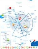 Antarctic region Map - Vector Illustration. Antarctic region Map - Detailed Vector Illustration Stock Photos