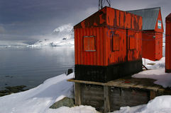 Antarctic research station. An abandoned Argentinian research station in the Antarctic Royalty Free Stock Photo