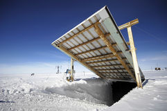Antarctic research station. Opening for vehicles at Antarctic research station Stock Photography