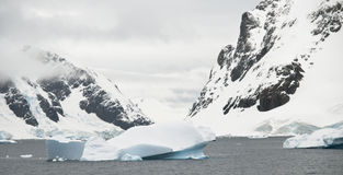 Antarctic Scenery. Typical scenery from found around the Antarctic Peninsula Royalty Free Stock Photo